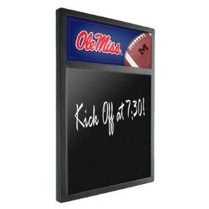 Ole Miss Rebels Team Chalkboard with Football Design