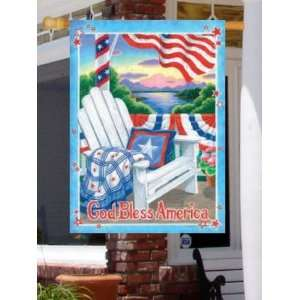 God Bless America Flag   Banner Patio, Lawn & Garden