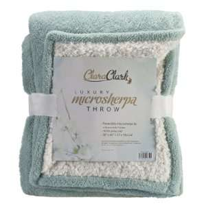 JS Sanders MicroMink Luxurious Soft Blanket Throw, Aqua (Light Blue