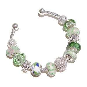 Black Cat Jewellery Store Pandora Style Bangle   Spring Green Jewelry