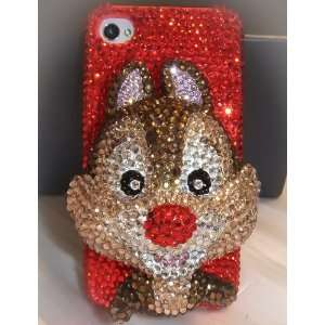 Nice Handmade Crystal 3D Dale Iphone 4/4s Case + Screen