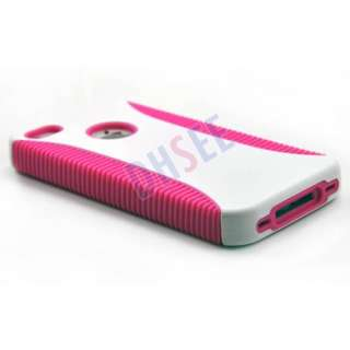 New Hot Pink Silicone Hard Case Cover For iPhone 4 4G