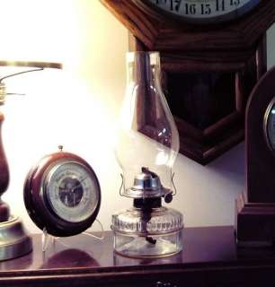 Vintage Glass Oil Lamp #4001 P&A Steel Eagle Burner