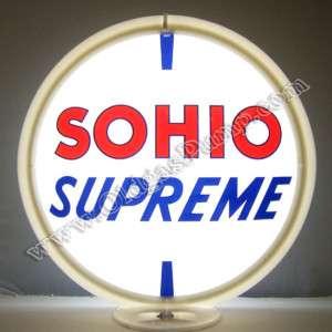SOHIO SUPREME GASOLINE & OIL GAS PUMP GLOBE FREE S&H