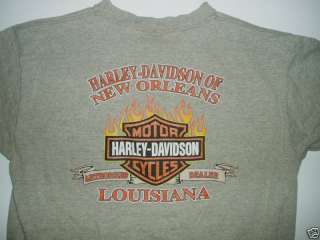 Official HARLEY DAVIDSON Motorcycle T SHIRT New Orleans