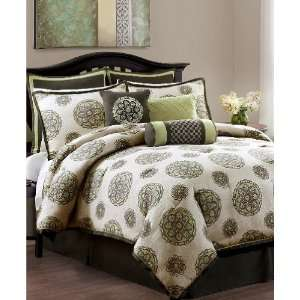 Eva Mendes Stella 9 Piece Queen Comforter Bed In A Bag Set