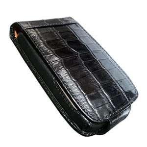 Piel Frama 945 Black Crocodile Pattern Leather Case for