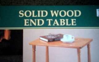Classic Living Solid Wood End Table NIB Oak Fin Home