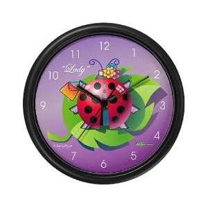 Lady Bug Funny Wall Clock by