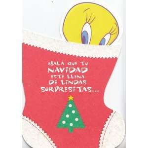 Greeting Card Christmas Looney Tunes Spanish Hope Your Christmas Is