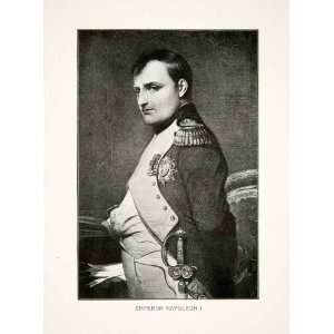 1907 Print Portrait Emperor Napoleon Bonaparte Costume