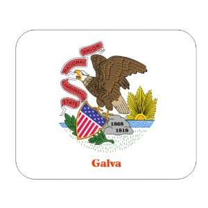 US State Flag   Galva, Illinois (IL) Mouse Pad Everything
