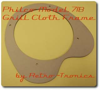 Reproduction Grill Cloth Frame Philco 71B