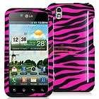 Hot Pink / Black Zebra Hard Skin Case Cover for LG Optimus Black P970