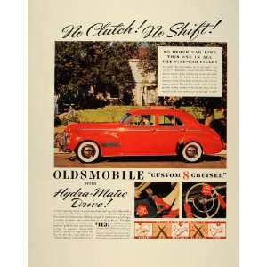 1940 Ad Olds Vintage Red Custom 8 Cruiser Automatic Car