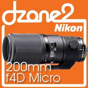 Nikon Micro Nikkor AF 200mm f/4D F4D f/4 f4 Micro #L233 0182080198782