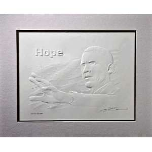 SPLENDID EXCEPTIONAL EMBOSSED BARACK OBAMA ART RELIEF Home & Kitchen