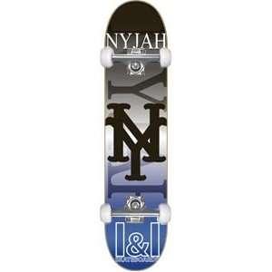 Nyjah Roots Complete Skateboard   7.75 Blue w/Raw Trucks & Wheels