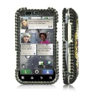 Ecell   BLACK MIRROR BOW CRYSTAL BLING CASE FOR MOTOROLA
