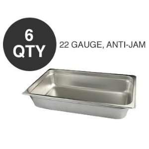 6 FULL SIZE 4D ANTI JAM STEAM TABLE PAN   NSF
