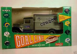 ERTL GOAL LINE CLASSICS DALLAS COWBOYS die cast bank
