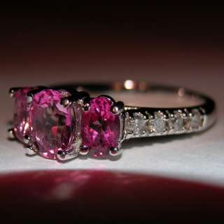 1,399 NWT TESTED PINK TOPAZ & DIAMOND SOLID 14KT GOLD HIGH QUALITY