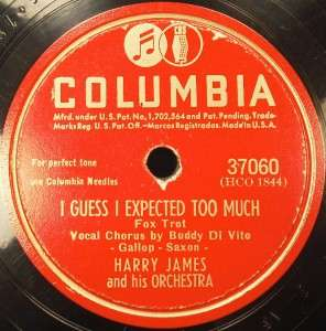 Lot of Four 78 RPM Records HARRY JAMES & ORCHESTRA (O)