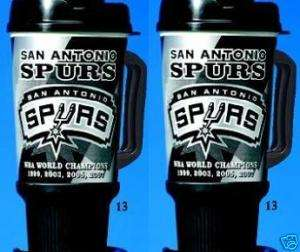 San Antonio SPURS NBA 32 oz. GRIP Insulated Mugs NEW