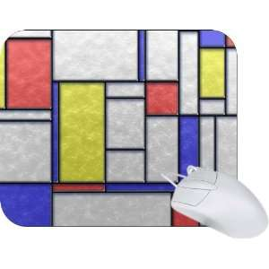 Rikki Knight Primary Color Stained Glass Tiles Mouse Pad
