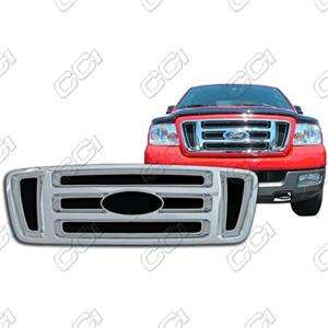 2004 2008 FORD F150 CHROME GRILLE INSERT OVERLAY