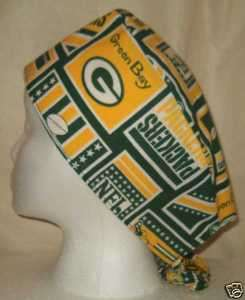 SCRUB HAT CAP MADE W GREEN BAY PACKERS NFL FABRIC LOOK