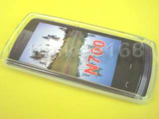 White Frosted TPU GEL Case Cover for Nokia 700, N700