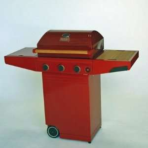 Minden Grills Master Propane Gas Grill in Red Patio, Lawn