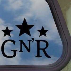 GUNS N ROSES GNR Black Decal ROCK BAND Truck Window