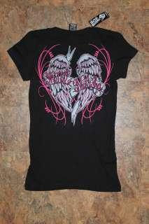 Metal Mulisha Womens tee shirt Size Small Black NWT