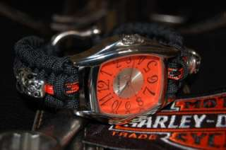 The ULTIMATE Harley Davidson Colors Paracord Watch Orange