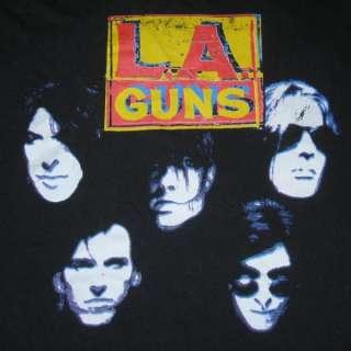Vtg LA GUNS 1991 VAMPIRES TOUR T SHIRT CONCERT n roses