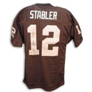 Ken Stabler Signed Raiders t/b Black Jersey w/The Snake
