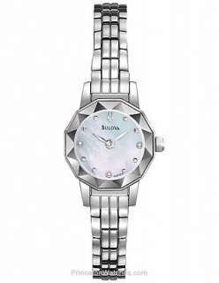 Bulova 96P129 Ladies Watch Mother of Pearl Dial Stainless Steel Quartz