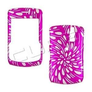 GLITTER PINK RAIN snap on hard case faceplate for Blackberry 8330