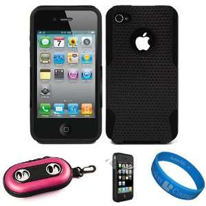 Black Dual Protective Hard Case with Black Rubberized Soft Silicone