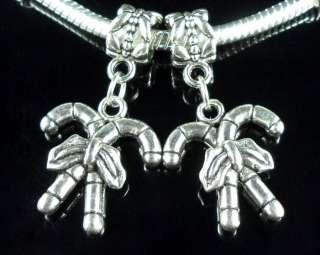 25Pcs Tibetan Silver Christmas Dangle Charm Fit Bracelet ZY209