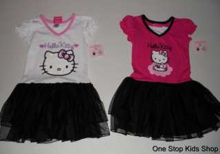 HELLO KITTY Girls 5 6 Outfit Set DRESS Skirt TUTU Shirt Top