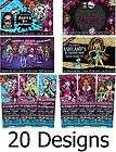 Printed Monster High Birthday Ticket or 4X6 Custom Invitations