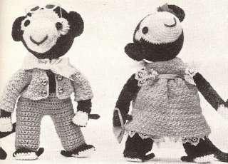Crochet PATTERN Monkey Boy Girl Soft Toy Doll Clothes