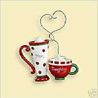 2006 Hallmark Ornaments Mom and Daughter Coffee Cups