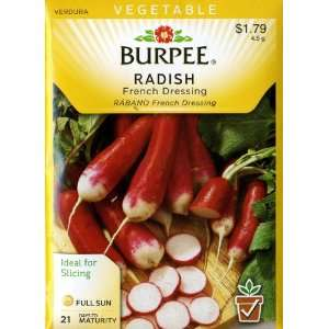Burpee 66804 Radish French Dressing Seed Packet Patio