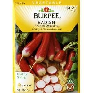 Burpee 66804 Radish French Dressing Seed Packet Patio