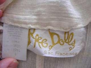 Vtg 70s RAG DOLLS HiPPie BoHo Skirt & Embroidered GAUZY Cotton Tunic