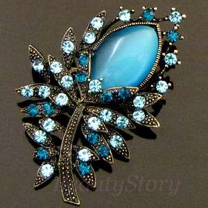 ADDL Item  antiqued rhinestone crystal flower brooch pin